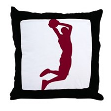 Slam Dunk Garnet Throw Pillow