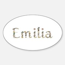 Emilia Seashells Oval Decal