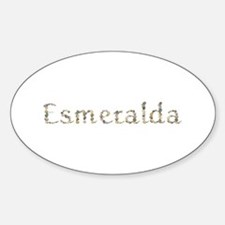 Esmeralda Seashells Oval Decal