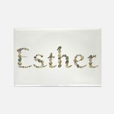 Esther Seashells Rectangle Magnet
