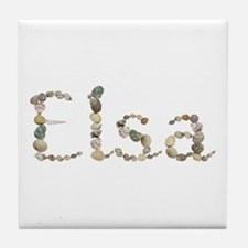 Elsa Seashells Tile Coaster