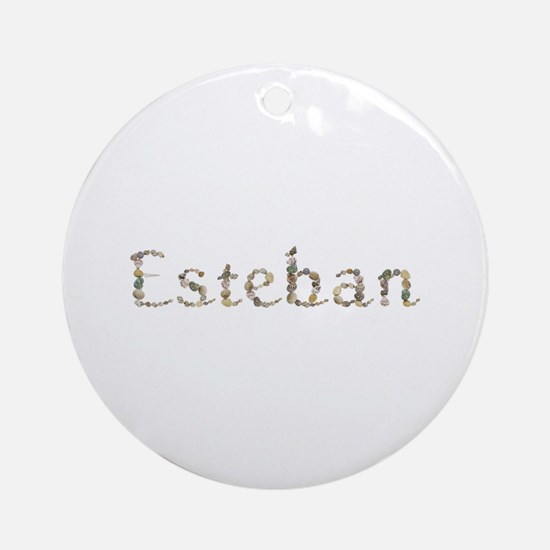 Esteban Seashells Round Ornament