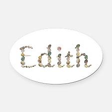 Edith Seashells Oval Car Magnet