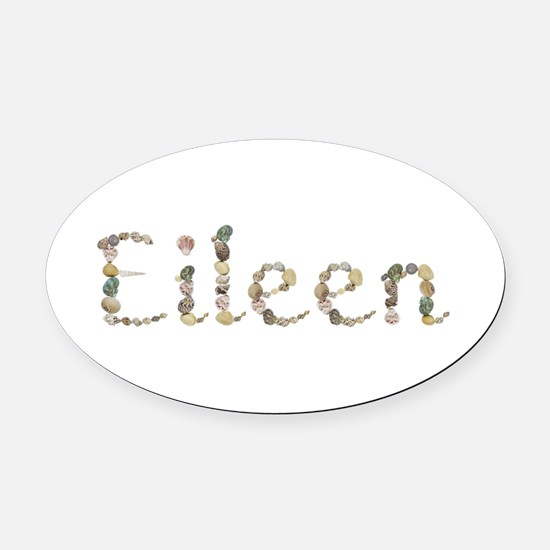 Eileen Seashells Oval Car Magnet