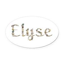 Elyse Seashells Oval Car Magnet