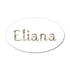 Eliana Seashells 20x12 Oval Wall Decal