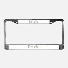 Emely Seashells License Plate Frame