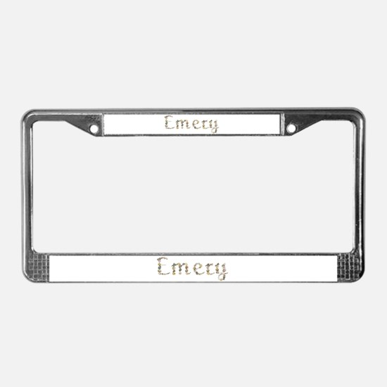 Emery Seashells License Plate Frame
