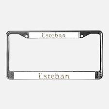 Esteban Seashells License Plate Frame