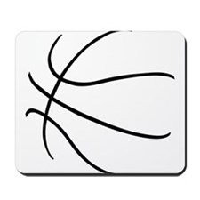 Basketball Ball Lines Black Mousepad