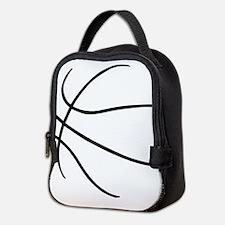 Basketball Ball Lines Black Neoprene Lunch Bag