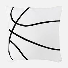 Basketball Ball Lines Black Woven Throw Pillow