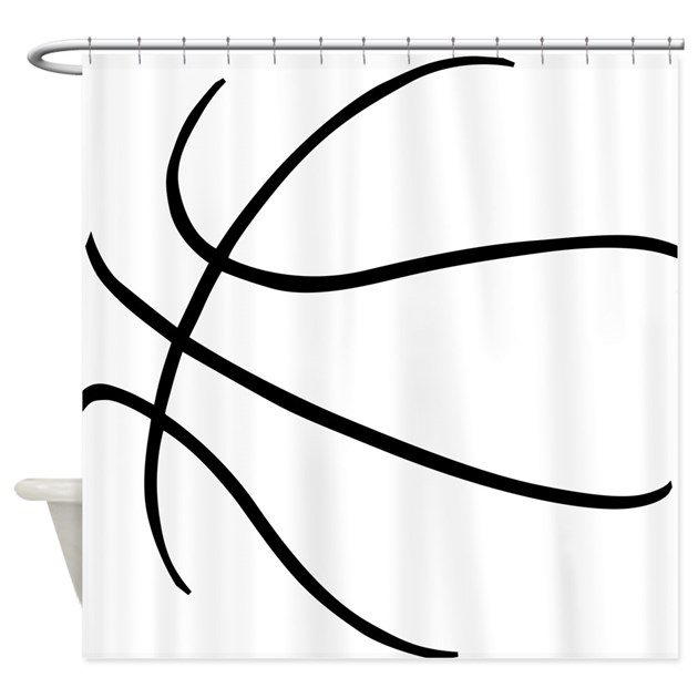 Basketball Ball Lines Black Shower Curtain By Sportsswagg