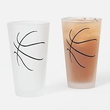 Basketball Ball Lines Black Drinking Glass