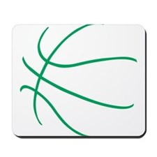 Basketball Ball Lines Green Mousepad