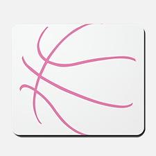 Basketball Ball Lines Pink Mousepad
