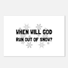God Out Of Snow Postcards (Package of 8)