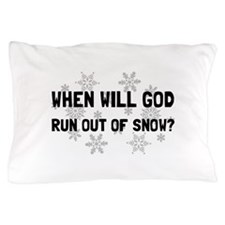 God Out Of Snow Pillow Case