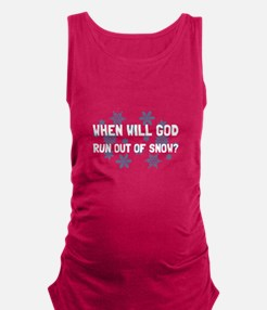 God Out Of Snow Maternity Tank Top