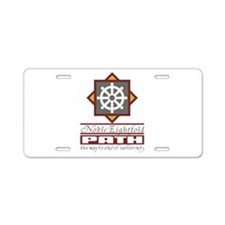 Buddhism Eightfold Path Aluminum License Plate