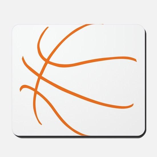 Basketball Ball Lines Orange Mousepad