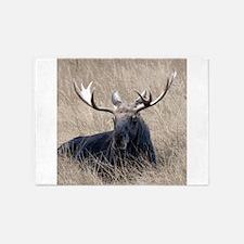 Shiras Moose 5'x7'Area Rug