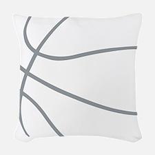 Basketball Ball Lines Grey Woven Throw Pillow