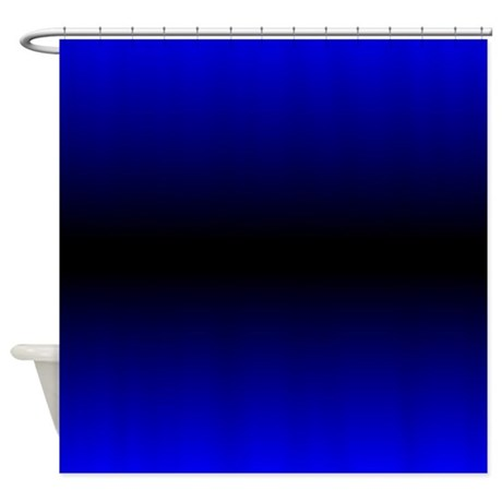 Electric Blue Shower Curtain