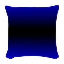 Electric Blue Woven Throw Pillow