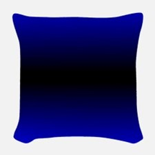 Electric Blue Woven Throw Pillow