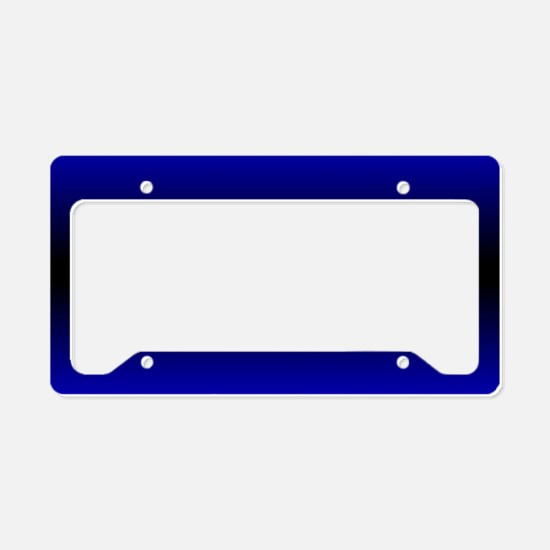 Electric Blue License Plate Holder