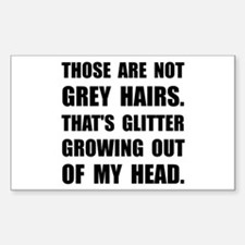 Grey Hairs Glitter Decal