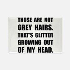 Grey Hairs Glitter Magnets