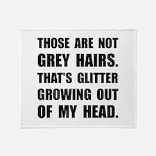 Grey Hairs Glitter Throw Blanket