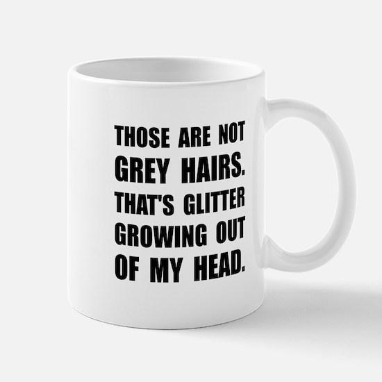 Grey Hairs Glitter Mugs