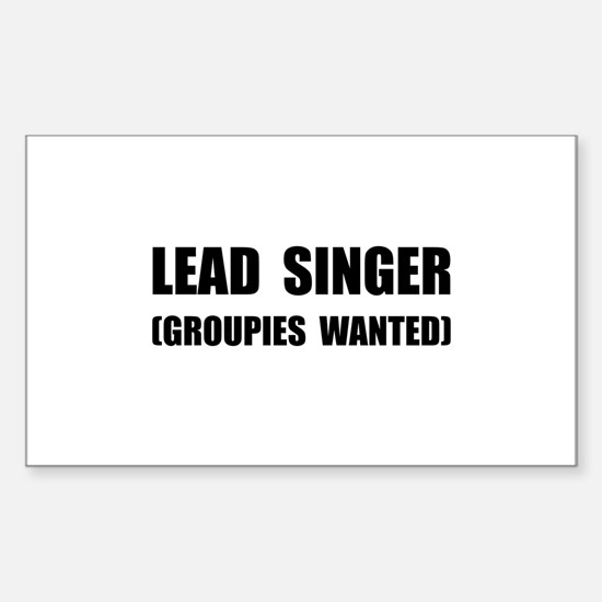 Lead Singer Groupies Decal