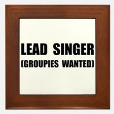 Lead Singer Groupies Framed Tile