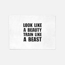 Look Beauty Train Like Beast 5'x7'Area Rug