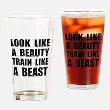 Look Beauty Train Like Beast Drinking Glass
