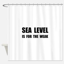 Sea Level For The Weak Shower Curtain