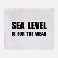 Sea Level For The Weak Throw Blanket