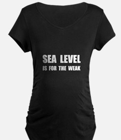 Sea Level For The Weak Maternity T-Shirt