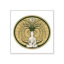 "Buddha and the Bodhi Tree Square Sticker 3"" x 3"""