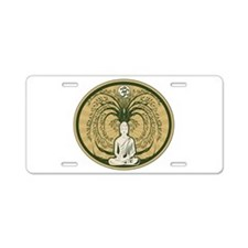 Buddha and the Bodhi Tree Aluminum License Plate