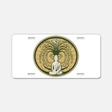 Buddha and the Bodhi Tree Aluminum License Plate