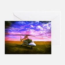 Helicopter. Greeting Card