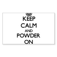 Keep Calm and Powder ON Decal