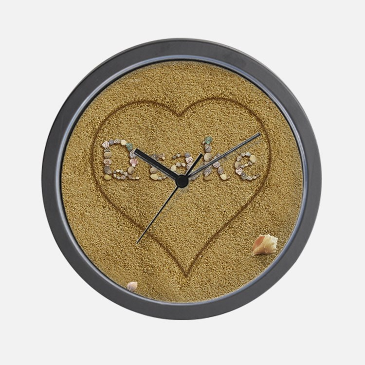 Drake Beach Love Wall Clock