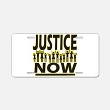 Justice Now Aluminum License Plate