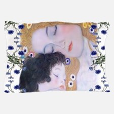 Klimt Art Deco Mother Child Pillow Case